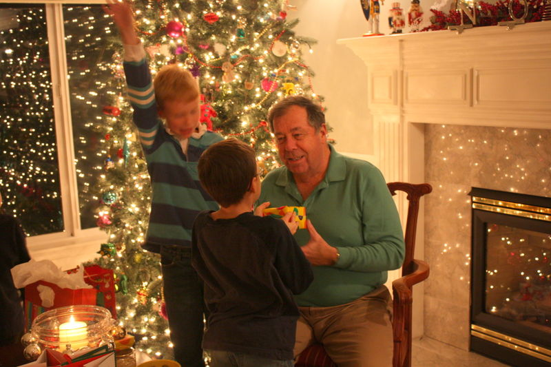 Michael receiving gift