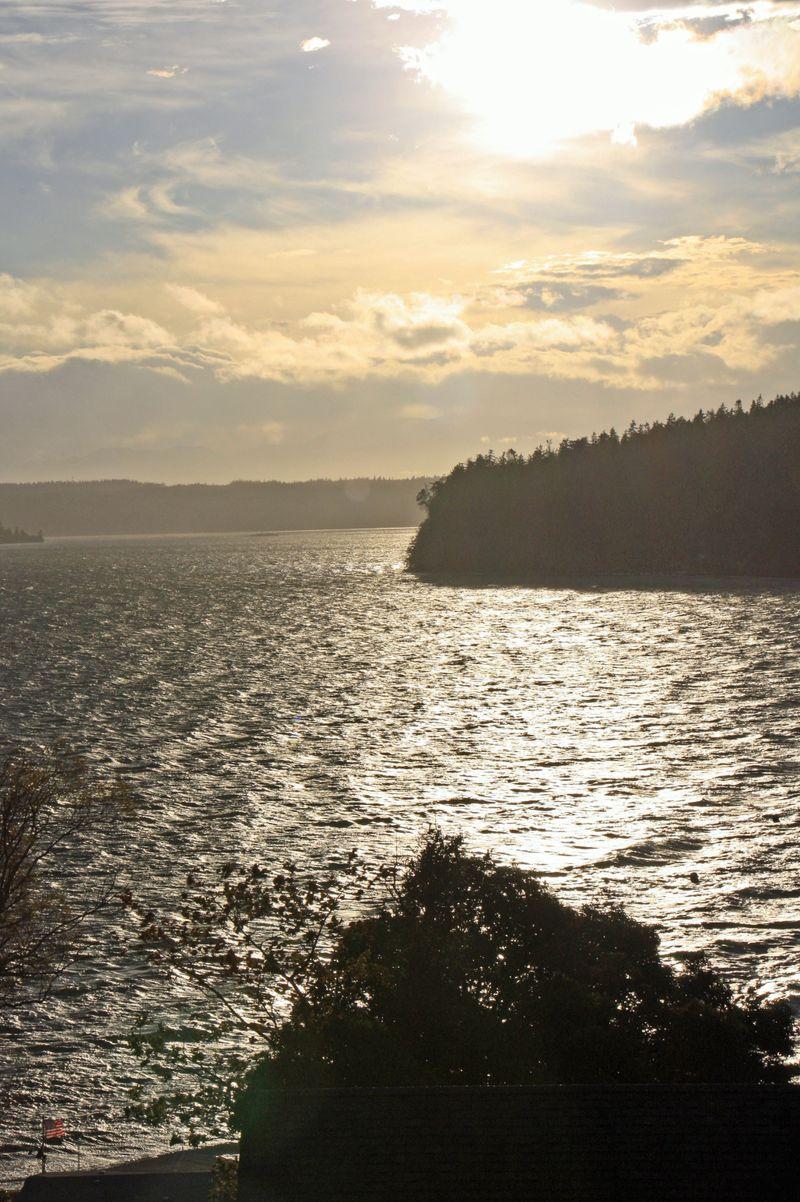 Elger Bay October sun