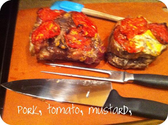 Revised pork, tomato